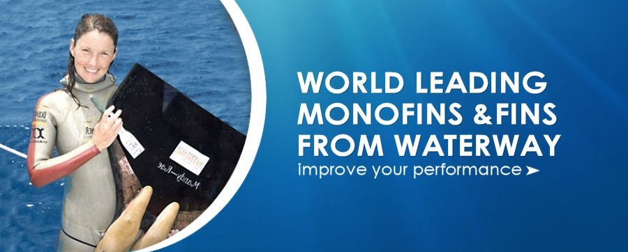 World leading freediving monofins and fins from waterway at unbelivable prices